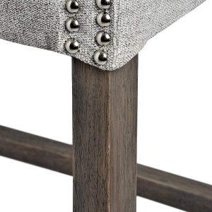 Silver Grey Upholstered Bar Stool d
