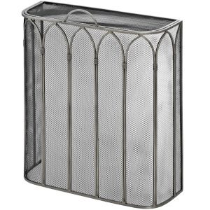 17547 Elegant Gothic Style Grey Fire Screen