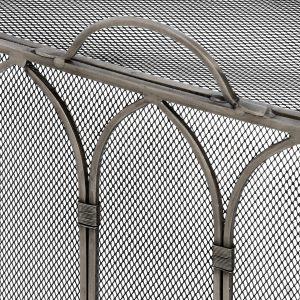 17547-a Elegant Gothic Style Grey Fire Screen