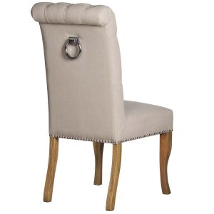 18330-a Roll Top Cream Dining Chair