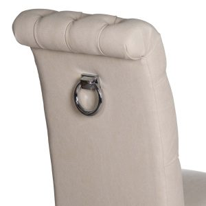 18330-c Roll Top Cream Dining Chair