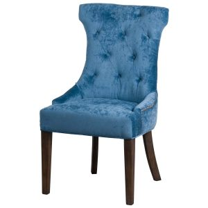 19076 Teal Blue Cocktail Wing Dining Chair