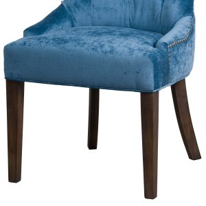 19076-b Teal Blue Cocktail Wing Dining Chair
