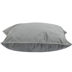 19341-a Grey Velvet Square Cushion with Inner