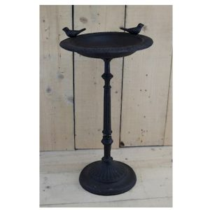 3663 Antique Style Brown Bird Feeder Table