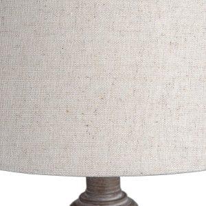 Beige Light Brown Wood Table Lamp