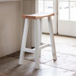 CHST14 Contemporary White Breakfast Bar Stool