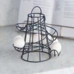 ERCN01_Grey Black Wire Round Egg Run