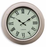 ET279 Vintage Cream London Round Wall Clock