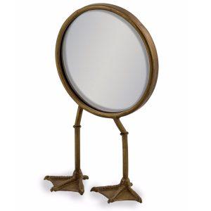 ET313 Vintage Bronze Metal Bird Legs Mirror