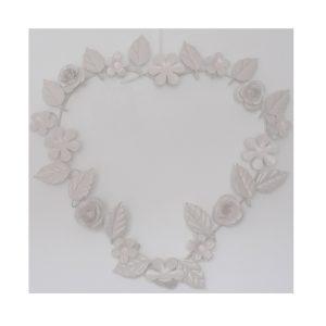 Hanging Vintage Cream Heart Decoration