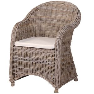 INT2775 New England Wicker Chair with Cushion