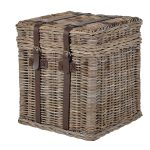 INT4025 New England Grey Wicker End Table