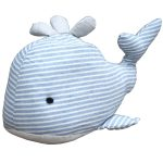 MP106A Blue White Stripe Whale Door Stop
