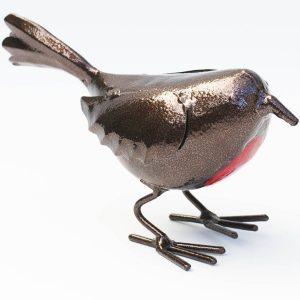 Standing Robin Metal Outdoor Ornament