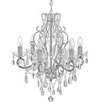 18794 Brushed Grey Floral Traditional Chandelier