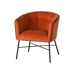 19354 Large Rust Orange Tub Chair
