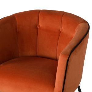 19354-a Large Rust Orange Tub Chair