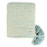 72737-1-Woven Lattice Blue Cream Blanket