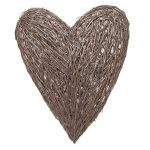 LLH015 Extra Large Brown Wicker Wall Heart