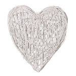 LWH007 Extra Large White Willow Wall Heart