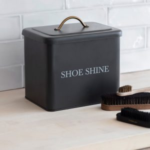 SSCN01_Contemporary Grey Shoe Shine Storage Box