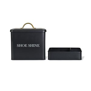 SSCN01_a Contemporary Grey Shoe Shine Storage Box