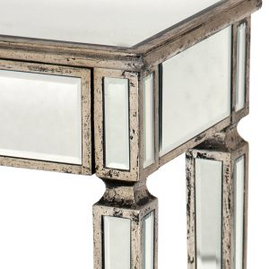 r9-9755s_01 Mirror Antique Champagne Silver Bedside Table