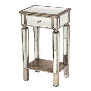 r9-9755s_2 Mirror Antique Champagne Silver Bedside Table