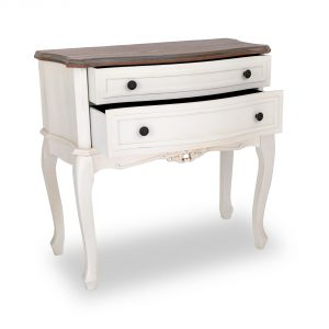 tfg012-aw_02 Antique White Ornate 3 Drawers Chest
