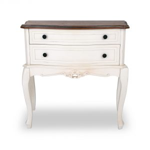 tfg012-aw_1 Antique White Ornate 3 Drawers Chest