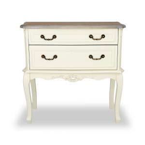 tgf-120-aw-wd Antique White Wooden 2 Drawers Chest