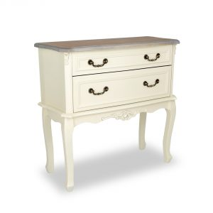 tgf-120-aw-wd_01 Antique White Wooden 2 Drawers Chest