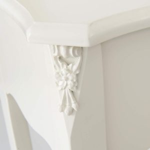 tgf-226-wh-det-02 Ornate Soft White Dressing Console Table