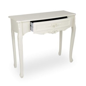 tgf-226-wh_02 Ornate Soft White Dressing Console Table