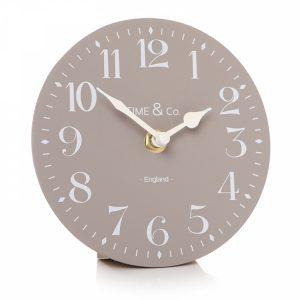 50645 Light Grey and White Mantel Clock