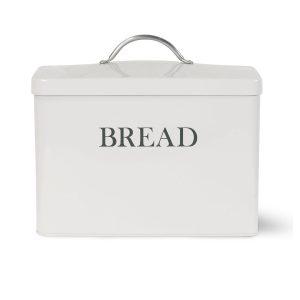 BBCH02_Vintage Style White Grey Bread Bin
