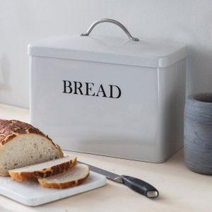 BBCH02_a Vintage Style White Grey Bread Bin