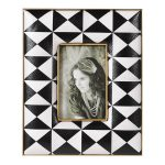 EGN184 Black White Geometric Photo Frame