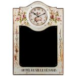 Hotel De Ville Floral Blackboard Clock