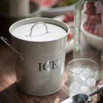 IBCH01_1 Retro Style White Metal Ice Bucket