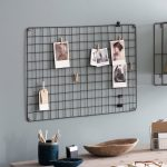 MBST01_Grey Wire Metal Memo Display Board