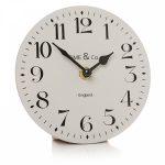 Vintage Style Light Grey Mantel Clock