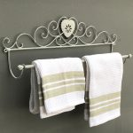 YF937REV_2 Antique Grey Heart Metal Towel Rail