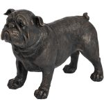 18420 Antique Bronze Standing British Bull Dog