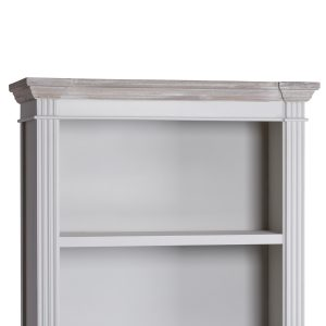18877-b Tall Classic White Grey Drawers Shelves