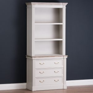 18877-c Tall Classic White Grey Drawers Shelves