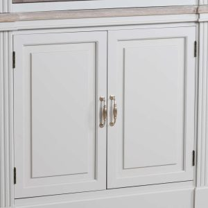 18879-c Large Wooden Grey Wash Linen Cupboard