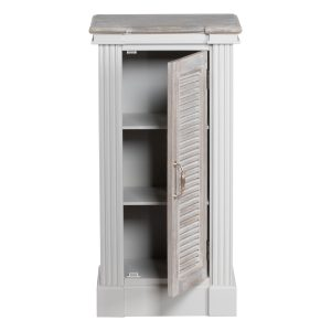 18881-a Classic Grey White Wash Brown Cabinet