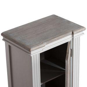18881-b Classic Grey White Wash Brown Cabinet